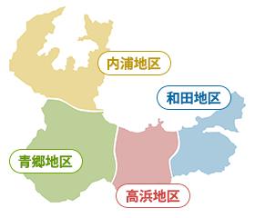 スマホ用高浜4地区エリアマップ